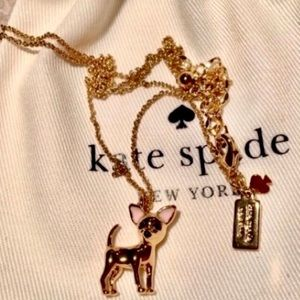 Kate Spade Gold-Tone Chihuahua Pendant Necklace